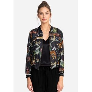 Johnny Was Silk Wild Life Bomber Jacket (size S)